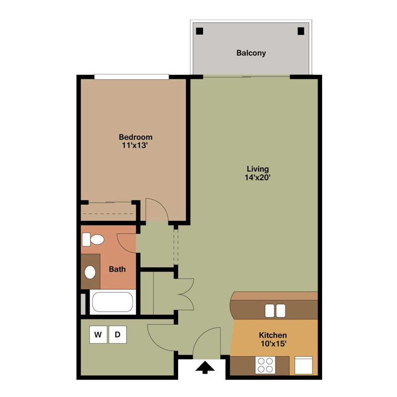 1 Bedroom Apartment Floor Plans Archives The Overlook On Prospect