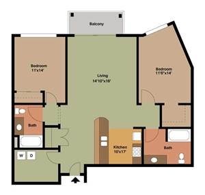 2 bedroom apartment floor plans archives the overlook on for Apartment building plans 2 units