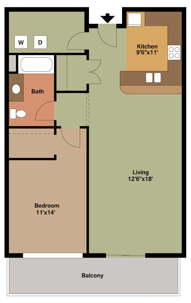 Bedroom Apartment Floor Plans Archives The Overlook On Prospect - One bedroom apartment floor plans